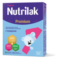 НУТРИЛАК   Premium1+( 0- 6мес) м/с с преб. и нукл. 350г /уп12
