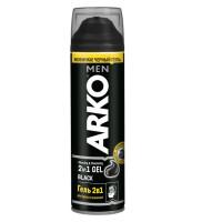 ARKO MEN Гель 2в1 д/бр и умыван. Black 200мл/уп24