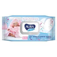Салфетки влажные для детей Ultra comfort 100 шт 0+ Алоэ и витамин Е с крышкой/уп12